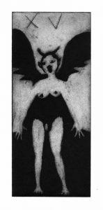 "Tarot 15 - ""Diable"" - 10x24cm"